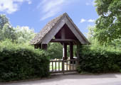 Lychgate on Snowshill road Broadway in tribute to Frances Millet