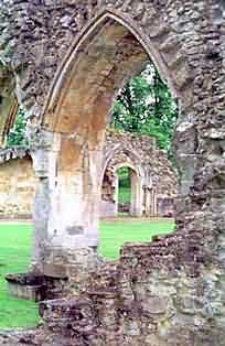 Hailes Abbey Church in between Broadway and Winchcombe