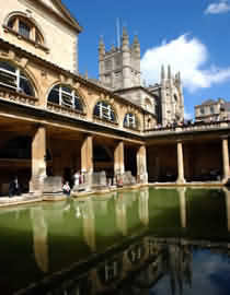 Roman Baths in the City of Bath, Somerset