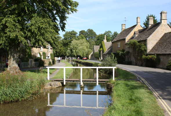 The quaint cotswold village of Lower Slaughter